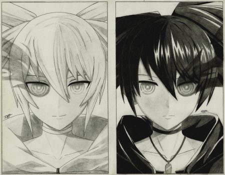 White Rock Shooter x Black Rock Shooter by 73RO