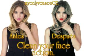 Action Clean your face by myonlyreason07