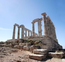 Poseidon temple panorama by ftourini-stock