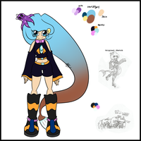 :New Character Ref: - Niella the Angler Seedrian by AnimalCreation