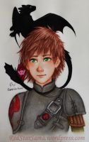 Hiccup and Toothless by RedStar-Sama
