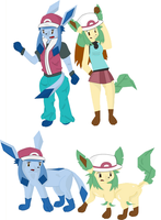 Glaceon and Leafeon TF by Poochama