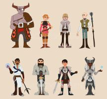 DA: Inquisition a la Cartoon Saloon - COMPANIONS by thecapturedspy