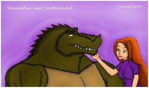 Samantha and Leatherhead by darkmane