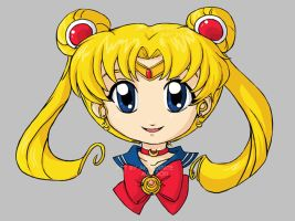 Commission - Chibi Sailor Moon by akiwitch