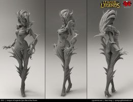 League of Legends: Zyra, Rise of the Thorns 2012 by cg-sammu