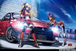 Asuka and Nadia- Evo-X Lancer by mastafuu
