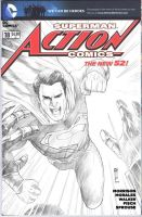 Action Comic Blank Cover Sketch by Thegerjoos
