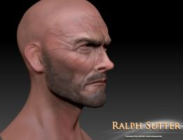 Clint 3D Model Color Test 1 by FoxHound1984