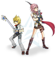 Roxas and Lightning by thiefXrikku