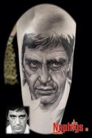 Al Pacino by NephtysTattoo