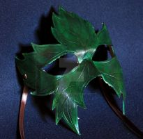 Leather Leaf Mask by themotleymasquerade