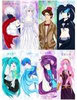 Misc. Fanart Bookmarks Set 01 by Veeves