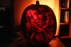 Hunger Games Pumpkin 2012 by TheSwedishJoker