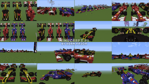 F1 Minecraft models (3 teams, montage) by Ratmanxx