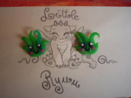 grass earrings by Libellulina