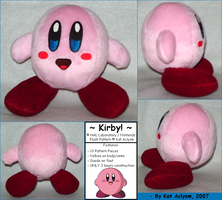 Nintendo Kirby - Custom Plush by Kat-Aclysm