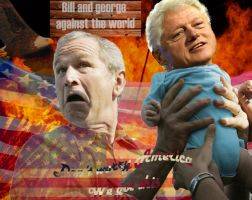 Bill and George against the world by riannabrianna