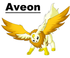 Aveon The Golden Wing Pokemon by MegBeth