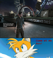 Sam Fisher V.S. Tails by SonicMon