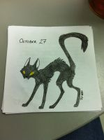 DS October 27 - Spook Cat by modestmonster