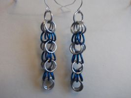 Blue Silver Dangle by NevinSlate