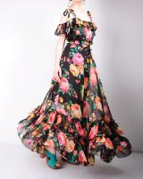 Black Floral Maxi Dress 8 by yystudio