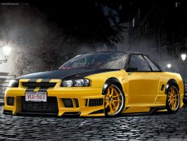 NISSAN GTR by max-578