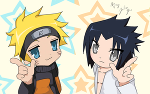Naruto + Sasuke Lucky Star by Julia-Yes