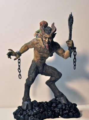 Krampus painted, 1 by DellamorteCo