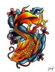 Koi design by darkicydevil