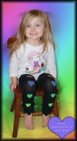 Black toddler youth leg warmers by PrimmRose