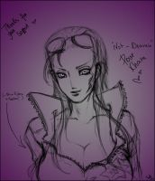 Nico Robin Sketch - For Kham! by SelaineCosplay