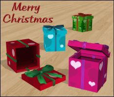 Gift Boxes (Poseable) by deexie