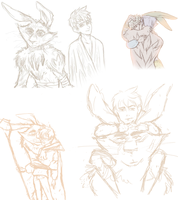 BunnyFrost old sketches by ASAMESHII