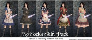 A:MR Skin - No Socks Pack by EvanescentAngel666