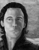 .:Charcoal:. Loki in the Snow by lizluvsanime2