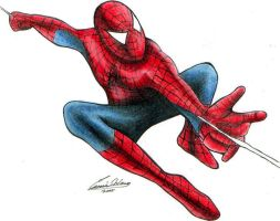 Spiderman Coloured by angstypoet