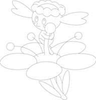 Lineart of Flabebe