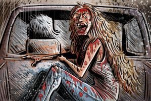 Sally from Texas Chainsaw Massacre by sonburnt777