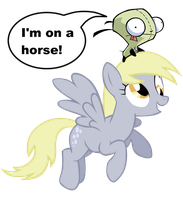 Gir Riding Derpy by 2xHelix