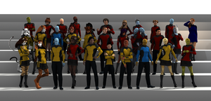 Full Crew of the USS Los Lobos Part 2 by gx-9901