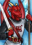Dragon Knight ATC by hollyann