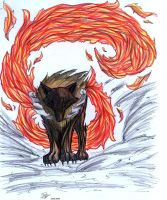 Wolf_Fire by EmeraldSora