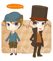 professor layton and luke by magicallydropz