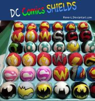DC shields Easter eggs 2014 by Rene-L