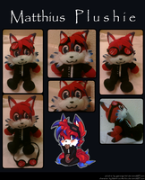 Comm::. Matthius plushie by thatWeasel