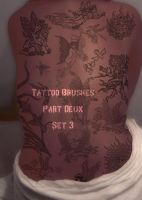 Tattoo Brushes pt Deux set 003 by DaSilvabuddah