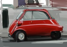 Red Isetta by fogarasi