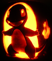 Charmander on ze Pumpkin